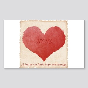 HLHS JOURNEY Rectangle Sticker