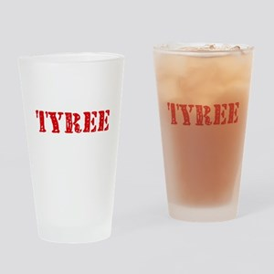 Tyree Rustic Stencil Design Drinking Glass
