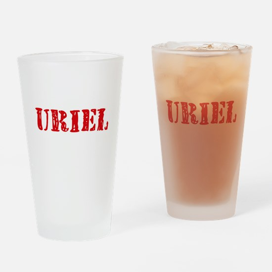 Uriel Rustic Stencil Design Drinking Glass