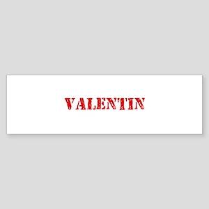 Valentin Rustic Stencil Design Bumper Sticker