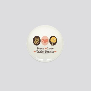 Peace Love Table Tennis Mini Button