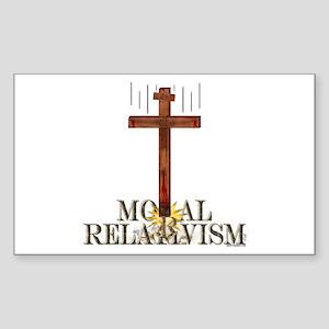 Moral Relativism Rectangle Sticker