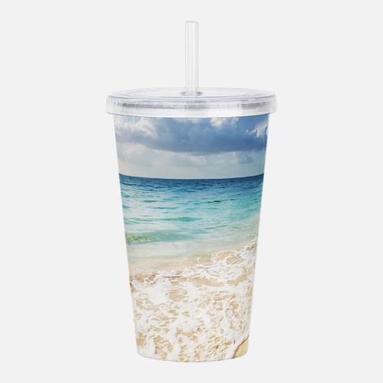 Beautiful Beach Acrylic Double-wall Tumbler