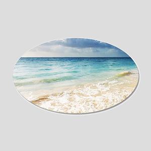Beautiful Beach 20x12 Oval Wall Decal