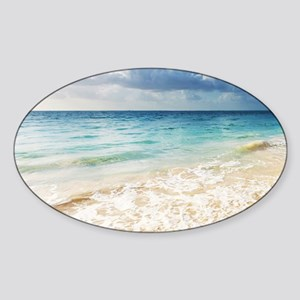 Beautiful Beach Sticker (Oval)