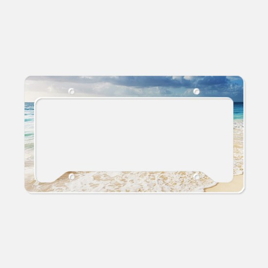 Beautiful Beach License Plate Holder