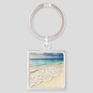 Beautiful Beach Square Keychain
