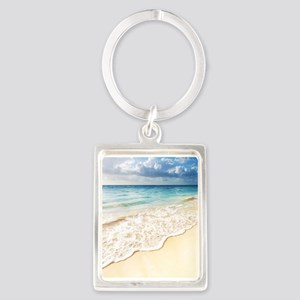 Beautiful Beach Portrait Keychain