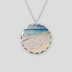 Beautiful Beach Necklace Circle Charm