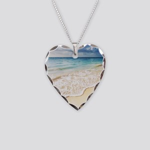 Beautiful Beach Necklace Heart Charm