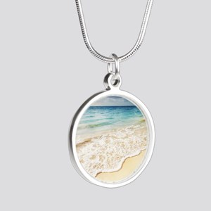 Beautiful Beach Silver Round Necklace