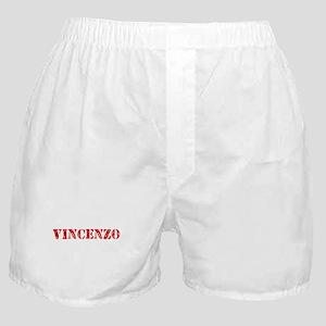 Vincenzo Rustic Stencil Design Boxer Shorts