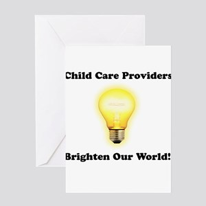 Childcare Providers brighten Greeting Card