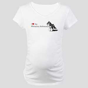 Love My Mini-Schnauzer Maternity T-Shirt