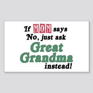 Just Ask Great Grandma! Rectangle Sticker
