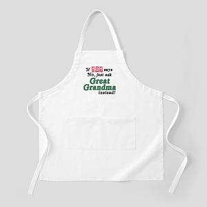 Just Ask Great Grandma! BBQ Apron
