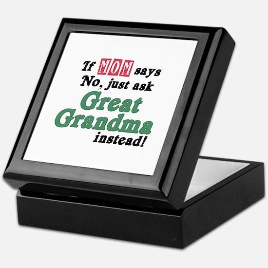 Just Ask Great Grandma! Keepsake Box