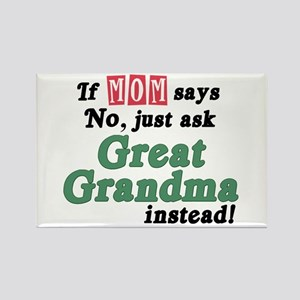 Just Ask Great Grandma! Rectangle Magnet