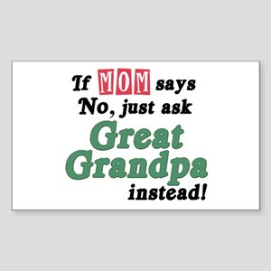 Just Ask Great Grandpa! Rectangle Sticker