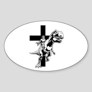 Jurassic Lord Oval Sticker