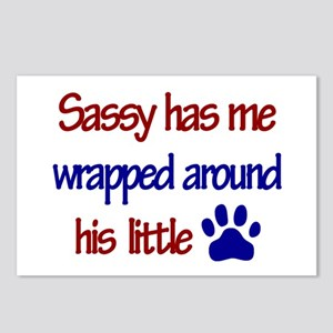 Sassy Has Me Wrapped Around H Postcards (Package o