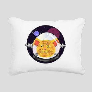 Space Cat Rectangular Canvas Pillow
