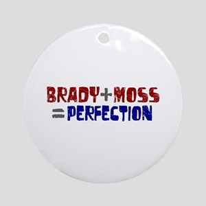Brady to Moss Perfection Ornament (Round)