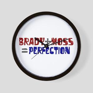 Brady to Moss Perfection Wall Clock