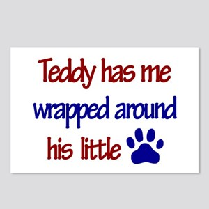 Teddy Has Me Wrapped Around H Postcards (Package o