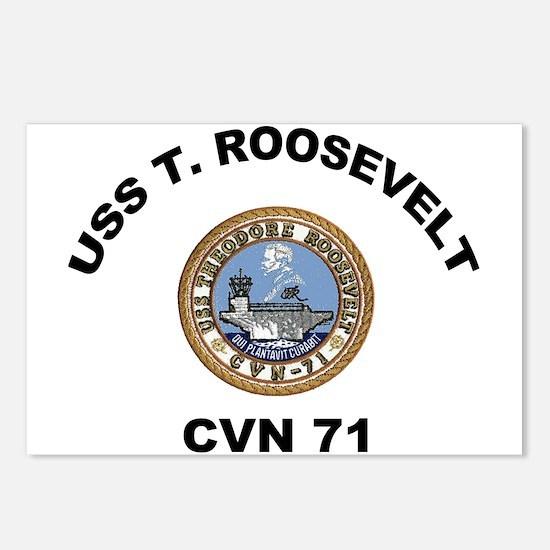 USS Theodore Roosevelt CVN 71 Postcards (Pk of 8)