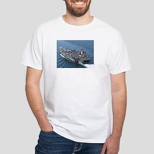 USS Theodore Roosevelt White T-Shirt