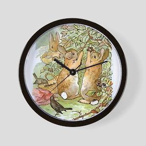 Beatrix Potter - Peter Rabbit : Rabbits Wall Clock