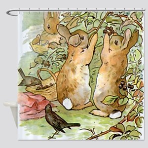 Beatrix Potter - Peter Rabbit : Rab Shower Curtain