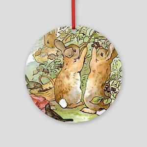 Beatrix Potter - Peter Rabbit : Rab Round Ornament