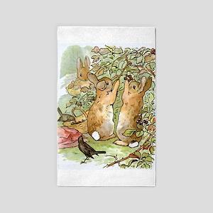 Beatrix Potter - Peter Rabbit : Rabbits P Area Rug