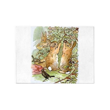 Beatrix Potter Peter Rabbit Rab 5 X7 Area Rug