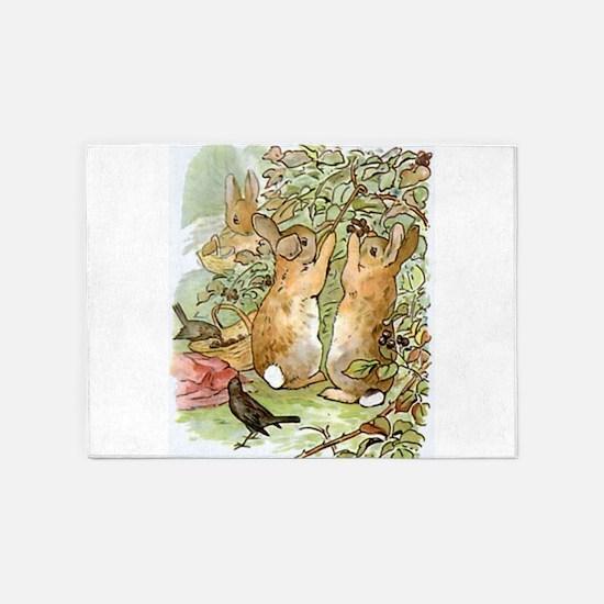 Beatrix Potter - Peter Rabbit : Rab 5'x7'Area Rug