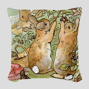 Beatrix Potter - Peter Rabbit Woven Throw Pillow