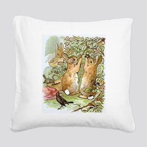 Beatrix Potter - Peter Rabbit Square Canvas Pillow