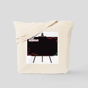 Christmas Giant Blackboard on Easel Tote Bag