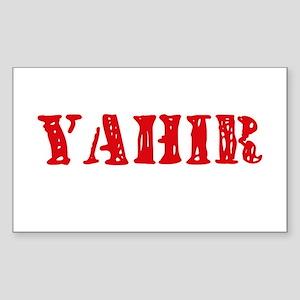 Yahir Rustic Stencil Design Sticker