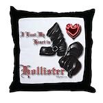Biker Valentine's Day Throw Pillow