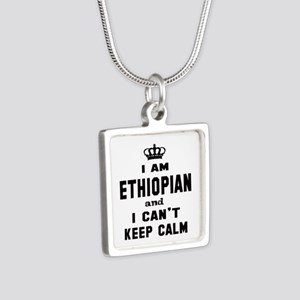 I am Ethiopian and I can't Silver Square Necklace