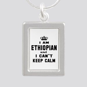 I am Ethiopian and I can Silver Portrait Necklace