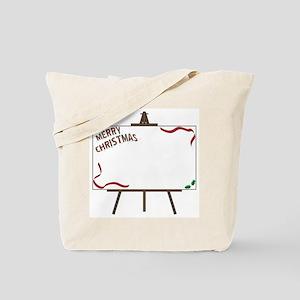 Christmas Giant Blank Canvas on Easel Tote Bag