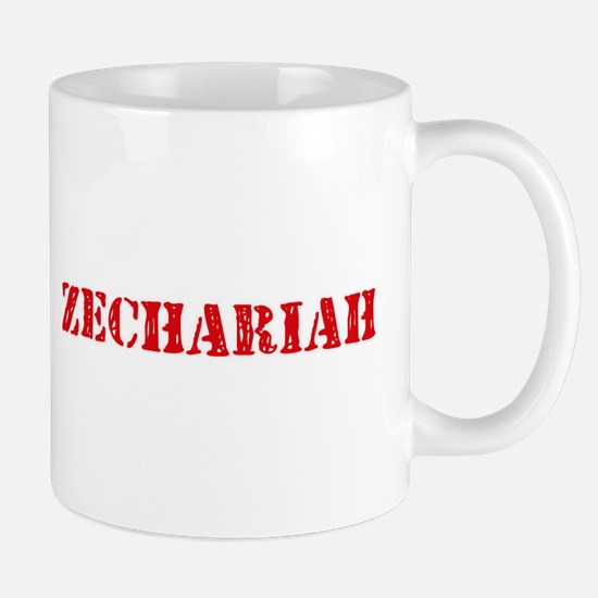 Zechariah Rustic Stencil Design Mugs