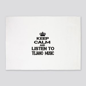 Keep Calm And Listen to Tejano Musi 5'x7'Area Rug