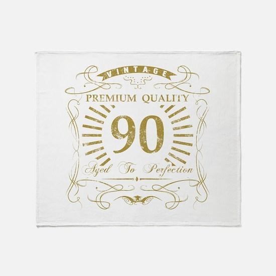 90th Birthday Gag Gift Throw Blanket