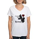 Biker Valentine Women's V-Neck T-Shirt