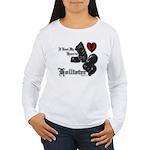 Biker Valentine Women's Long Sleeve T-Shirt